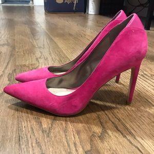 Sam Edelman Pink Velvet Pointed Toe Stiletto